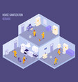 disinfection isometric vector image vector image