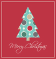 Elegant christmas card trendy vintage vector image vector image