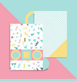geometric card vector image vector image
