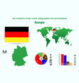 germany all countries of the world infographics vector image