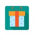 Gift box flat icon vector image vector image