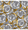 gold and gray hand drawn rose motif vector image vector image