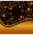 golden floral ornament vector image vector image