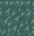 hand drawn ice cream seamless pattern perfect vector image vector image