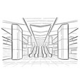 hand drawn sketch moscow metro station vector image