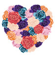 heart made roses vector image vector image