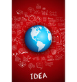 Idea concept with 3D Earth Globe vector image vector image