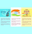independence day of india collection of posters vector image vector image