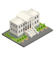 Isometric courthouse building law and justice
