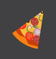 italian pizza slice top view vector image