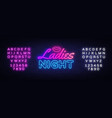 ladies night neon sign night party design vector image