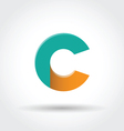 Letter C icon vector image