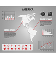 Map of America - infographic vector image vector image