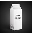 Milk Juice Beverages Carton Package Blank White vector image vector image