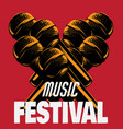 music festival hand drawn of microphone made in vector image