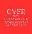 over font alphabet vector image