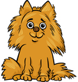 pomeranian dog cartoon vector image vector image