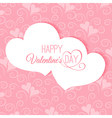 Postcard Happy Valentines abstract vector image
