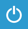 power on icon white on the blue background vector image