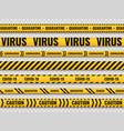 quarantine stripes safety warning yellow black vector image