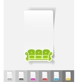realistic design element sofa vector image vector image