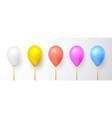 realistic white red pink blue gold and gray vector image vector image
