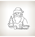 Santa Claus on a Light Background vector image vector image