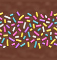 seamless background chocolate donut glaze vector image
