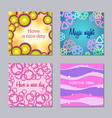 set of 4 creative card templates vector image