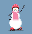 snowman-roller vector image vector image