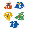 sport grunge icons vector image vector image