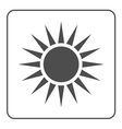 Sun icon Light sign sunbeams Gray vector image vector image
