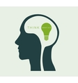 think about the environment green light vector image vector image