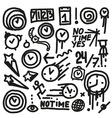 Time Doodles vector image vector image