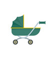 toy baby pram icon flat style vector image vector image