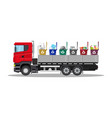 truck for transportation garbage vector image vector image