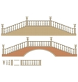 two-way ladder and bridge vector image vector image