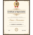Vintage retro frame certificate background design vector image