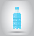 water bottle icon in flat style bottle on white vector image vector image