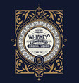 whiskey card for packaging vector image vector image