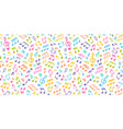 white musical seamless texture with colorful notes vector image vector image
