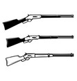 winchester rifle in monochrome style design vector image vector image