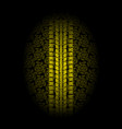 yellow leaves tire tracks vector image