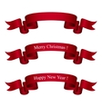 Dark Red Ribbons Isolated on White vector image