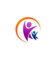 family care logo swoosh vector image