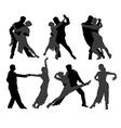 Tango Dancers Silhouette vector image