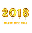 2018 new year count symbol balloon greeting vector image vector image