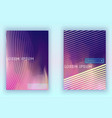 absract gradient geometric cover set vector image vector image