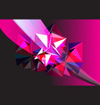 abstract background with geometric objects vector image vector image