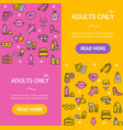 adults banner vecrtical set vector image vector image